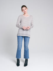 camden knit black and chalk