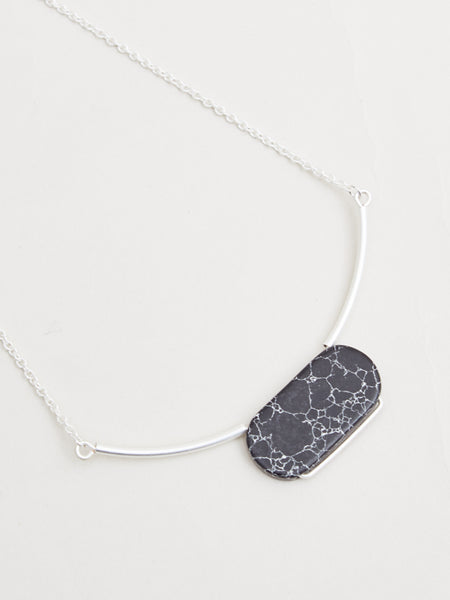 Livia Necklace Silver/Black