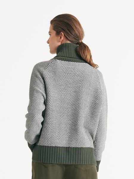 Fairmont knit olive/chalk