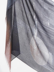 Empire scarf charcoal