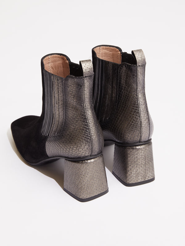 Frankie boots black/silver