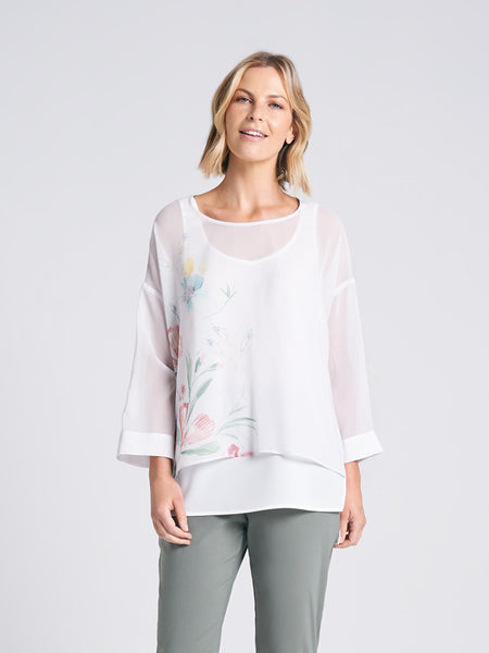 Ingrid Top Botanical Print