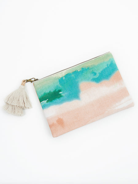 Audrey clutch blush