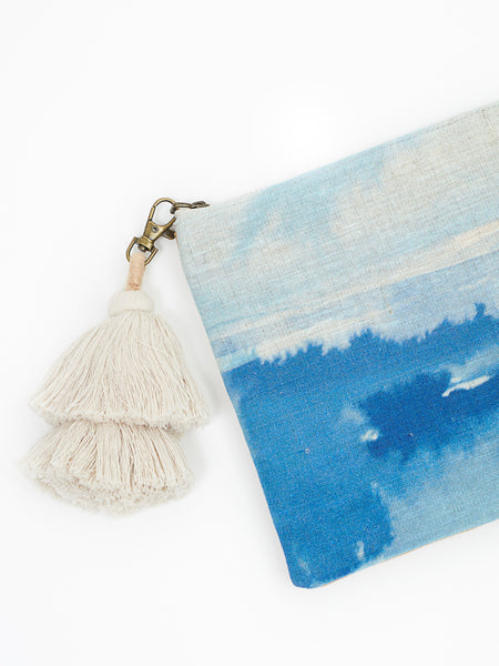Watercolour clutch ocean