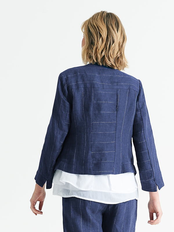 Seattle jacket capri pinstripe