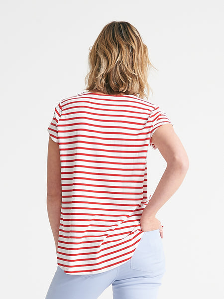 Easton Tee Poppy stripe
