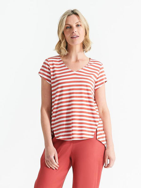 Easton tee sienna stripe