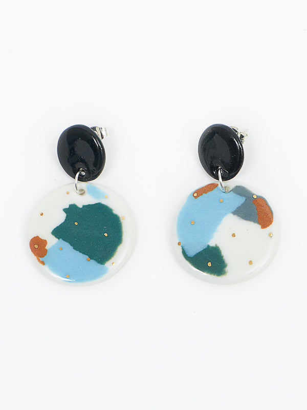 Ruby earring seafoam multi