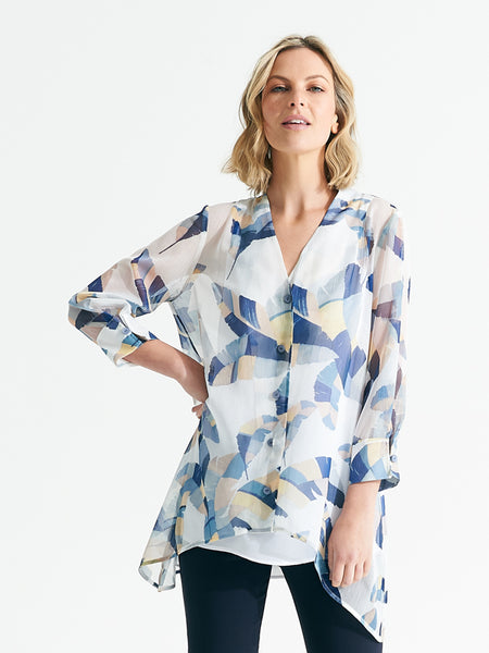 Drift Shirt feathered print