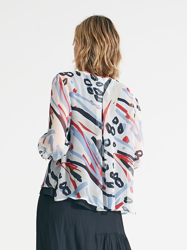 Alannah Top abstract animal