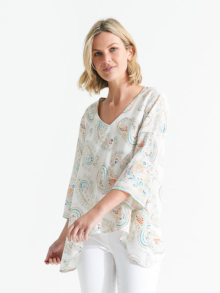 Florida top paisley print