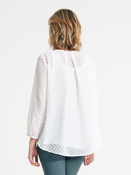 Simone top white