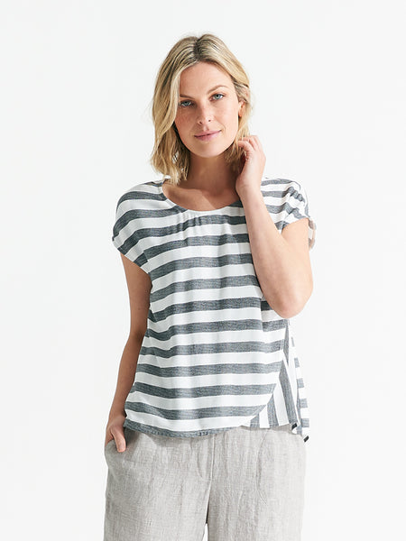 Haven top bold stripe