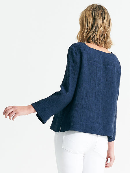Macey top indigo