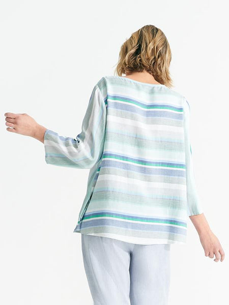 Lindsey top ocean stripe