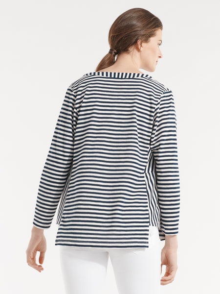Amalfi Cardigan ink stripe