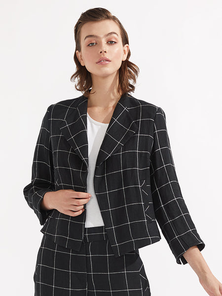 Seattle jacket black check