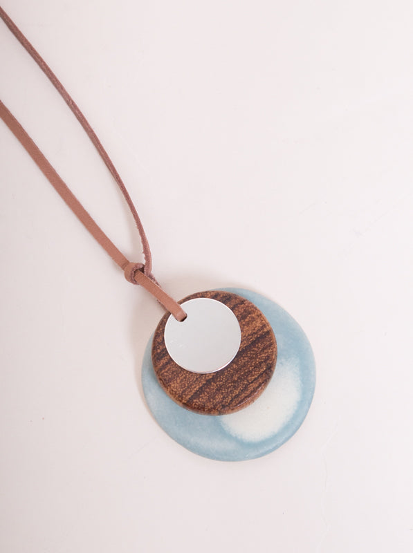 Ayan Necklace Blue/Wood
