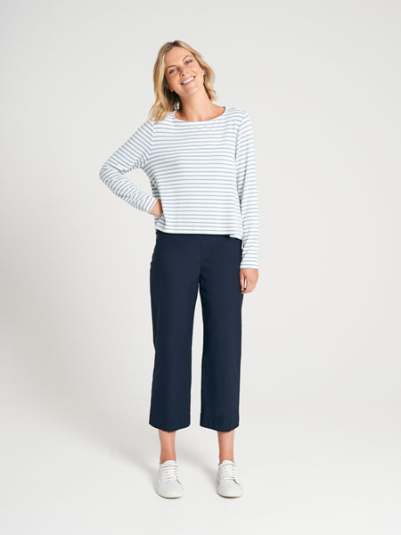 Seville Knit Cloud Stripe