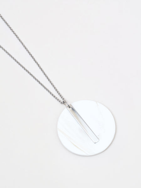 Celeste Necklace White/Silver