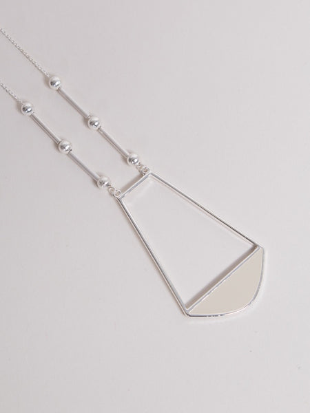 Rumi Necklace Silver/Chalk