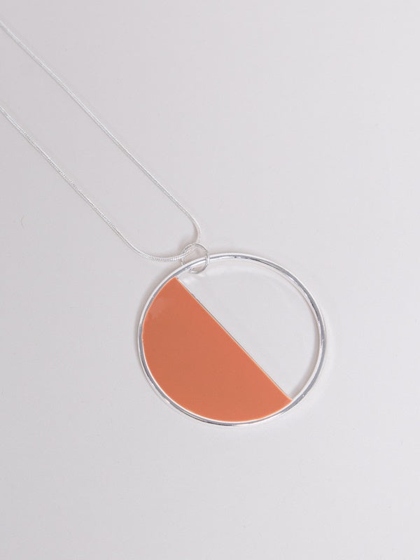 Owen Necklace Silver/Punch