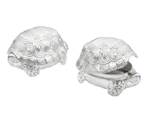 Sterling Turtle Pillbox