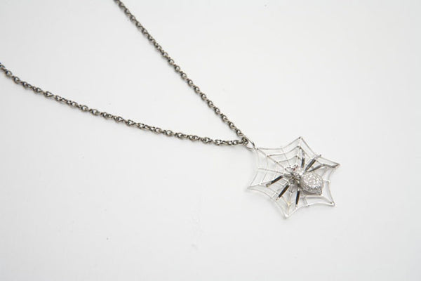 Diamond Spider Pendant
