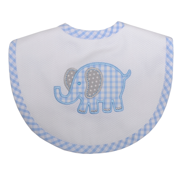 Blue Elephant Bib