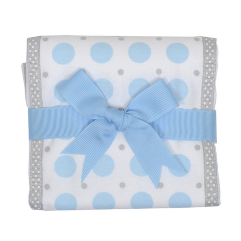 Blue Elephant Trimmed Burp Pad