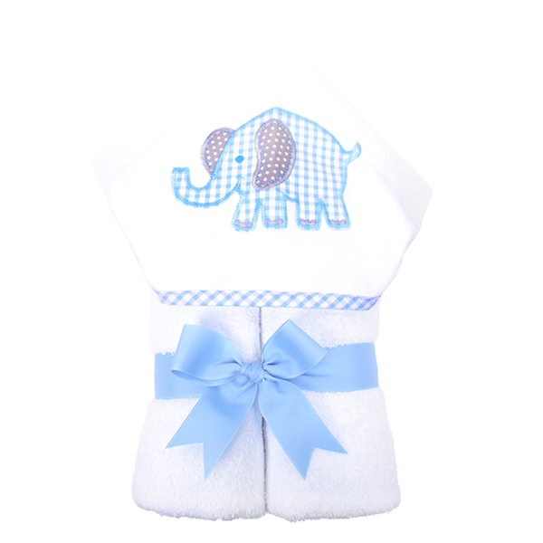 "Blue Elephant Hooded ""Everykid"" Towel"