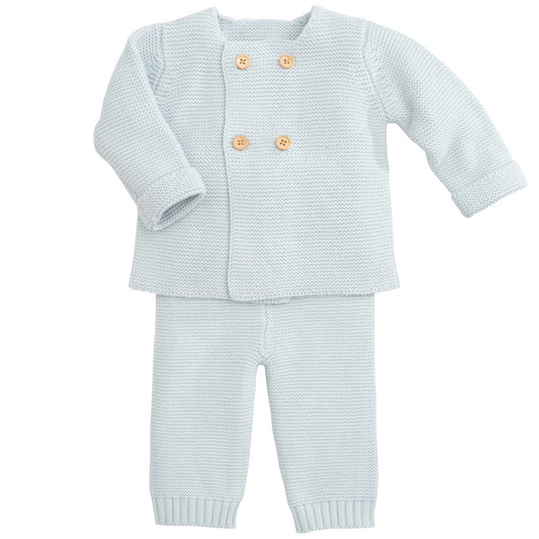 Cardigan & Pant Knit Set, Blue (6M)