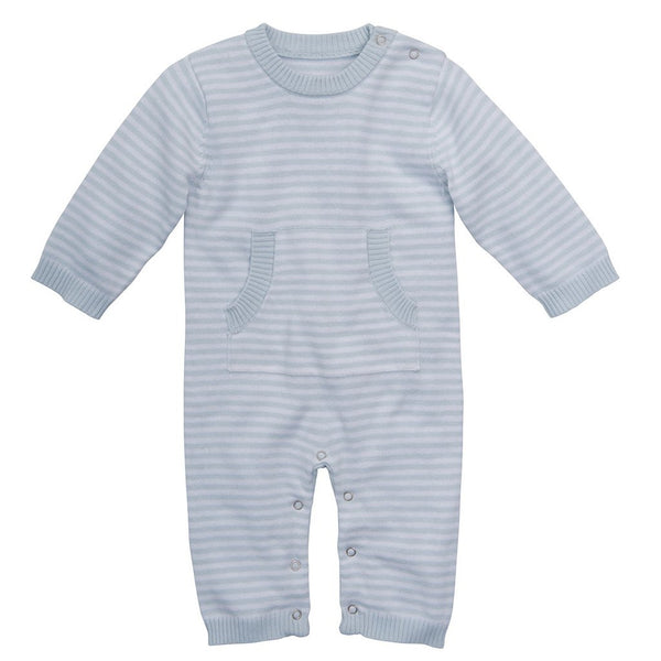 Stripe Knit Jumpsuit, Blue (3/6M)