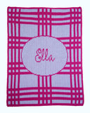 Crazy for Plaid Personalized Blanket