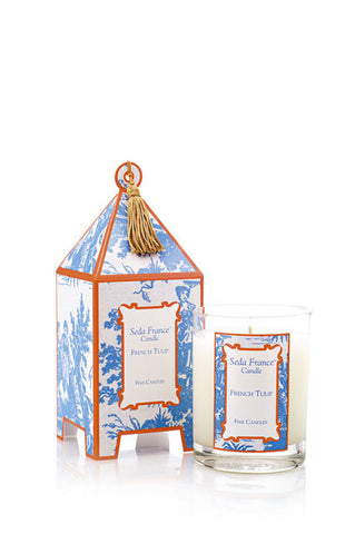 French Tulip Pagoda Box Candle