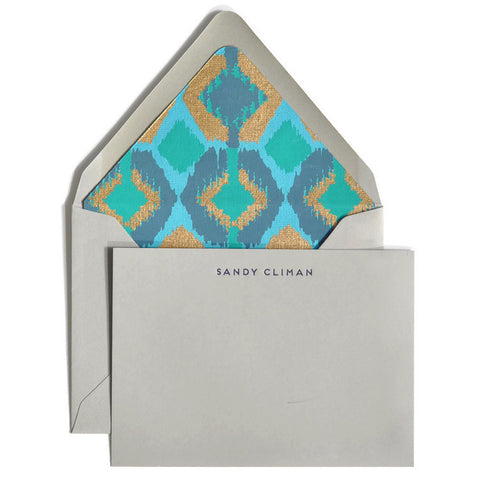 Letterpress Notecards & Envelopes: Shades of Blue