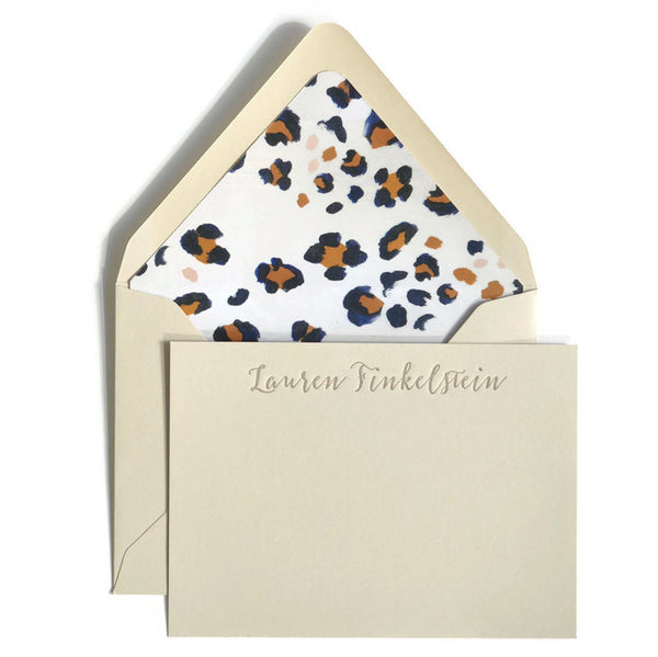 Letterpress Notecards & Envelopes: Leopard