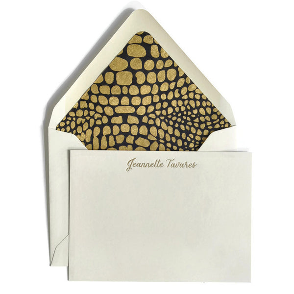 Letterpress Notecards & Envelopes: Black & Gold