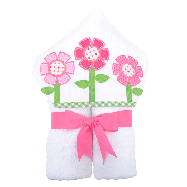 "Flower Hooded ""Everykid"" Towel"