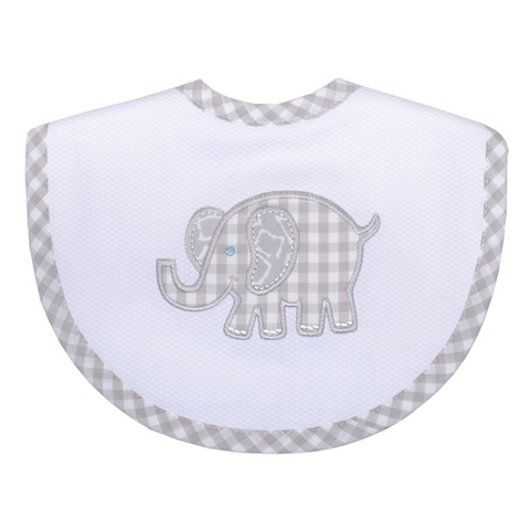 Gray Elephant Bib
