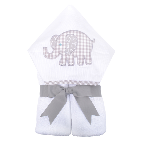 "Gray Elephant Hooded ""Everykid"" Towel"
