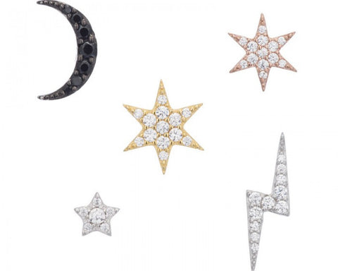 """On Trend"" Assorted Stud Set"