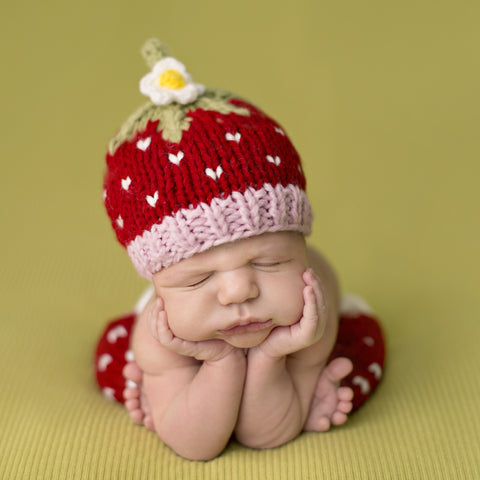 """Addie"" Strawberry Hat"