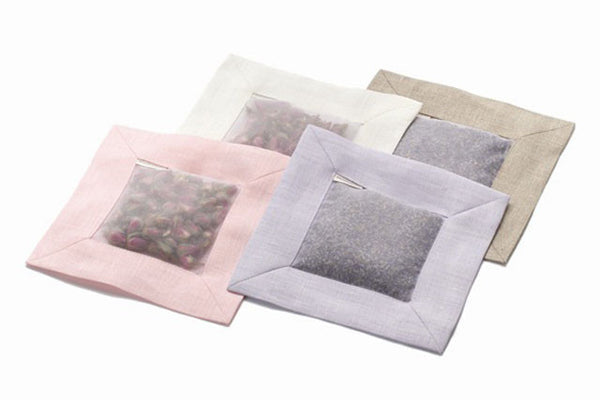 Square Sachets, Natural Linen
