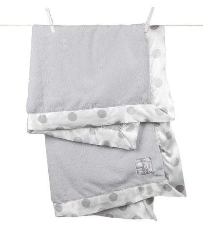 Luxe New Dot Blanket, Silver