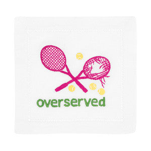 Overserved, Pink Tennis Cocktail Napkins