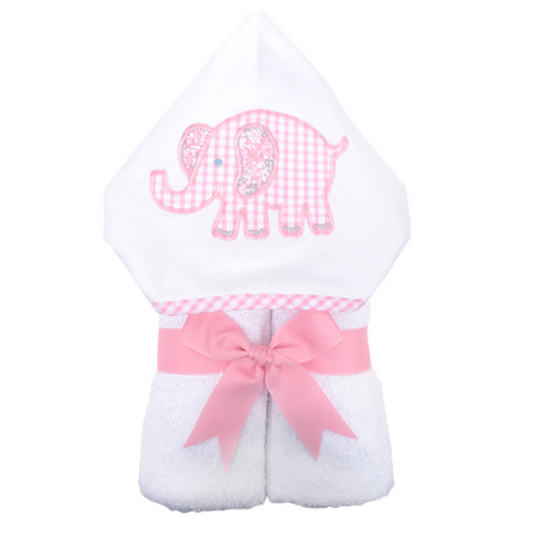 "Pink Elephant Hooded ""Everykid"" Towel"