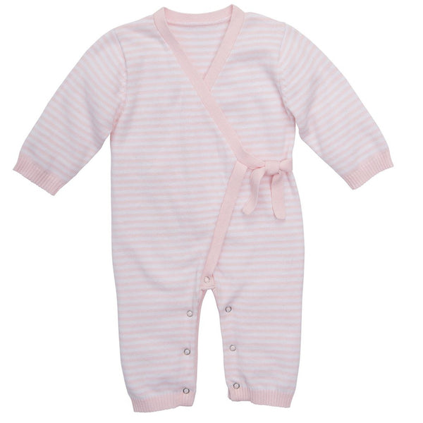 Stripe Knit Jumpsuit, Pink (3/6M)