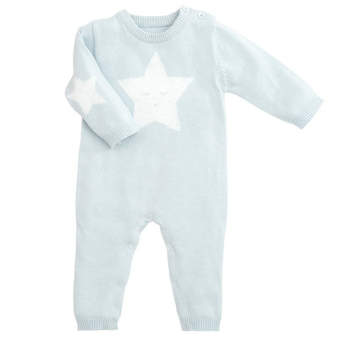 Blue Star Knit Jumpsuit (6M)
