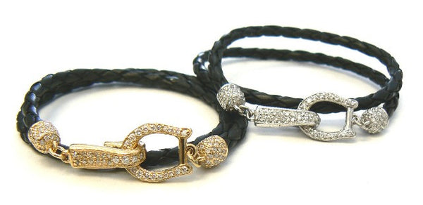 Diamond Horseshoe Double Wrap Bracelet